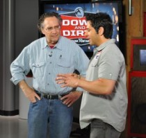 "Gordon Quinn (left) and Frank Fontana (right) on the set of the live tapping of the ""Down and Dirty Show"""