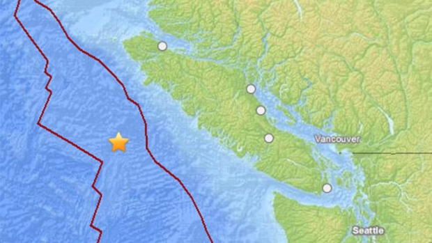 6.3-magnitude reported off the coast of B.C.