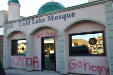 Mosque racist graffiti