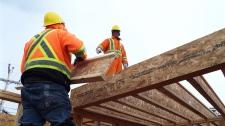 Workers build mosque in Iqaluit