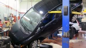 CTV Toronto: Car falls off hoist during oil change | CTV News