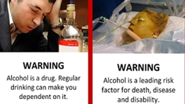Alcohol warning labels