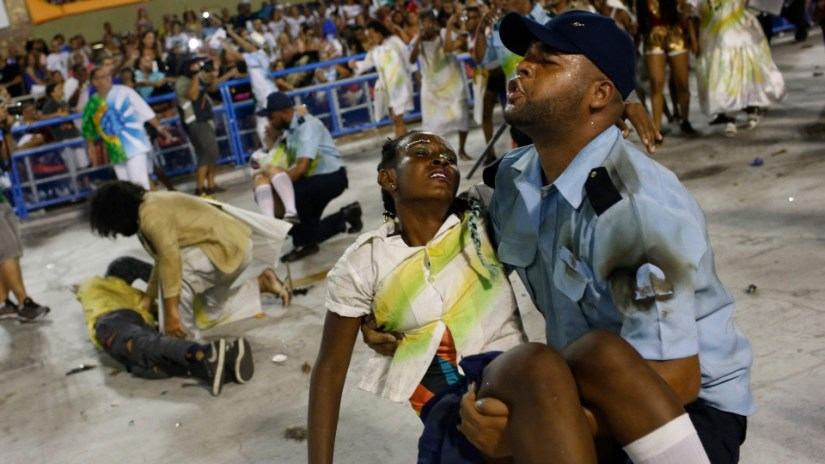 Image result for violence at rio carnival