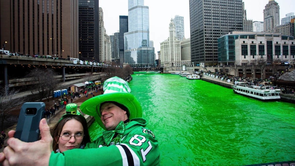 Chicago River Dyed Green For St Patricks Day CTV News