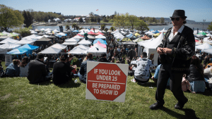 Controversial 4/20 cannabis event underway at Sunset Beach