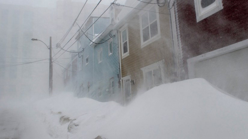 Newfoundlanders, hunkered down in blistering winter storm ...