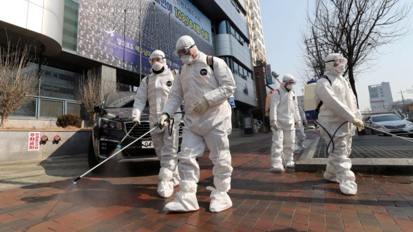 South Korea reports 1st virus death; 2.5M urged to stay home