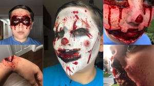'There's never a dull moment': 12-year-old dabbling in special effects make up has new face every day