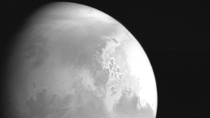 A view of the planet Mars