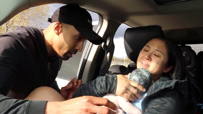 WATCH: A baby was born on Highway 407 in Ontario and it was all caught on video