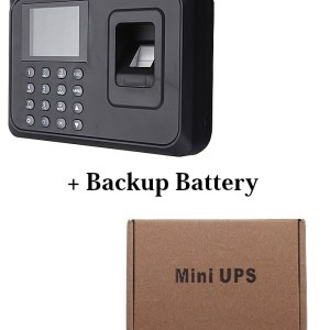 Biometric Fingerprint Staff recording Time Attendance Machine with backup battery