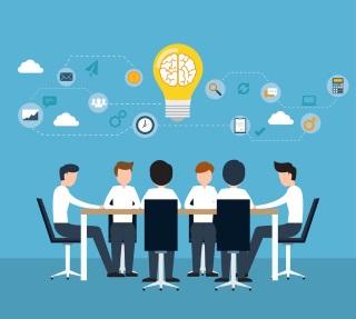 Lluvia de ideas en grupo
