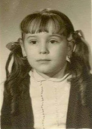 Ascensión López, bebé robada, en una foto de su infancia.