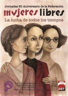 Cartel de la conferencia sobre Mujeres Libres en la CNT