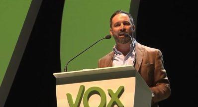 El líder de Vox, Santiago Abascal,.