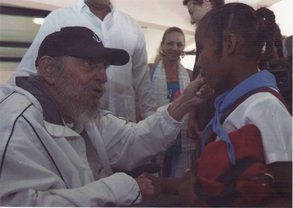 En el complejo educacional Vilma Espín, La Habana, 7 de abril de 2016. Foto: Estudios Revolución / Sitio Fidel Soldado de las Ideas.