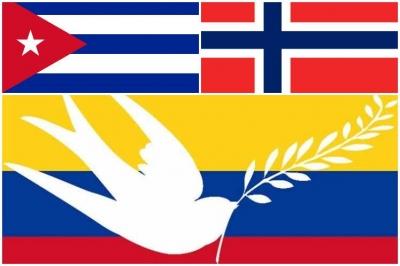 banderas de Cuba y Noruega