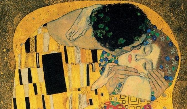 El Beso (detalle), de Gustav Klimt.