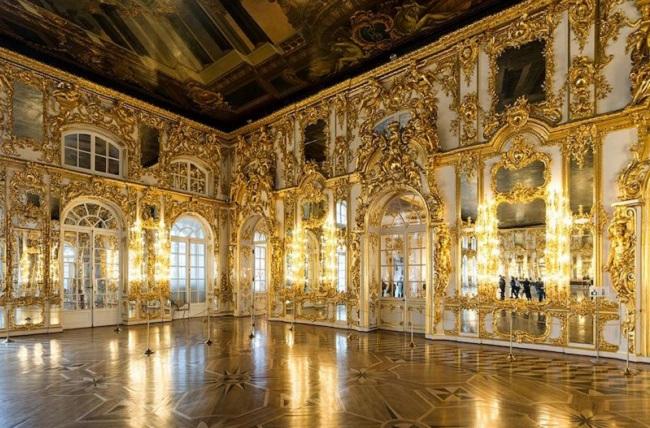 Palacio de Catalina la grande, en San Petersburgo.