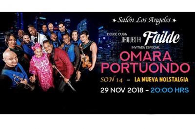Cartel del concierto en México de Omara Portuondo y orquesta Failde.