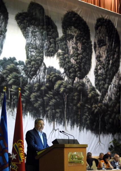 Raúl Castro en el Congreso de la UJC