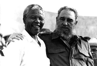 Fidel y Mandela.