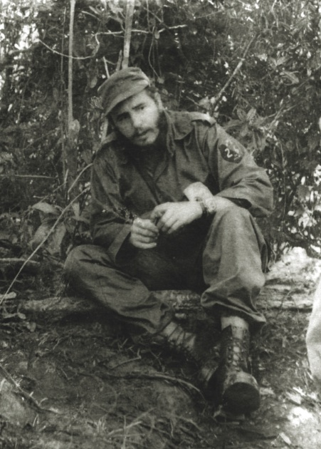 Fidel en la Sierra con botas