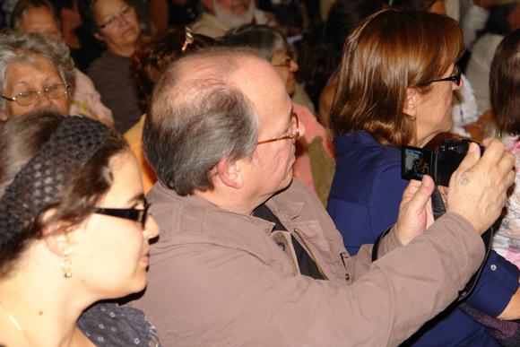 Silvio retrata a los músicos que le hacen homenjes. Foto: David Vázquez Abella