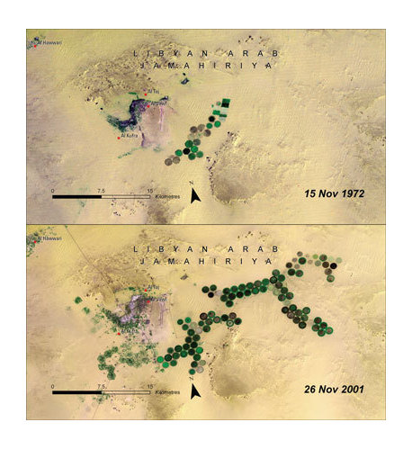 Agua en el desierto de Libia