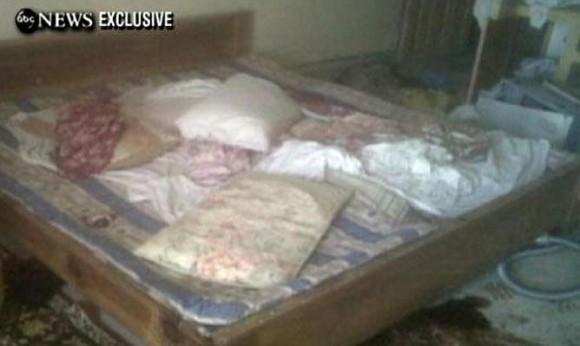 Una habitación de la casa donde presuntamente ha sido asesinado Bin Laden (ABC)