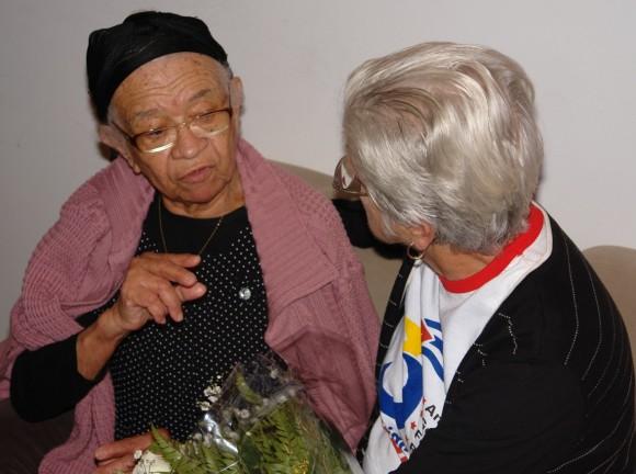 Magali Llort y Damaris Lucena en el Memorial de la Resistencia de Sao Paulo