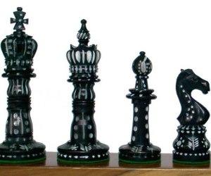 Piezas negras de ajedrez