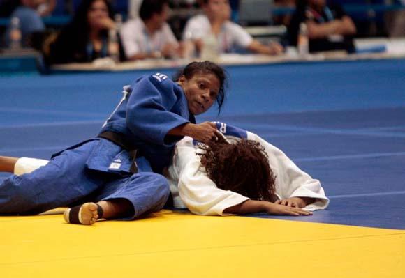 Medalla de Oro para la cubana Yumisleidy Lupetey en la division de los 57 kg del Judo panamericano. Foto: Ismael Francisco