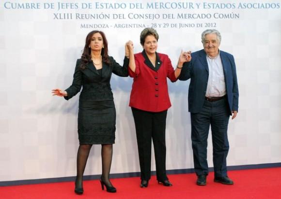 Cristina Kirchner recibe a jefes de Estado del Mercosur