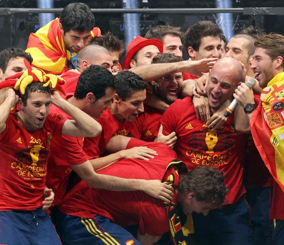 Júbilo y apoteosis: dos palabras que definen el sentimiento de hoy en Madrid. Foto: El País