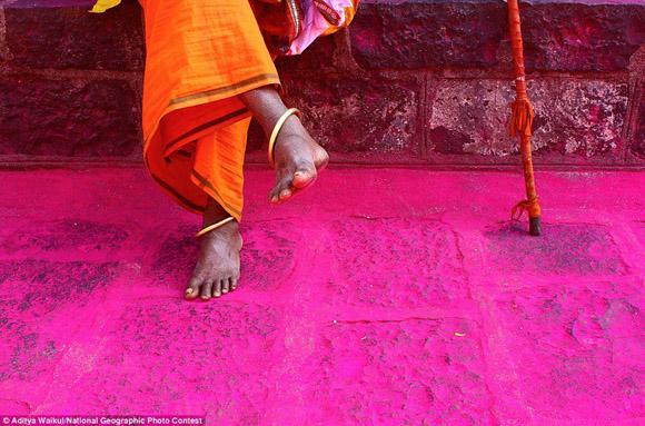 En un antiguo templo de la India. Foto: Aditya Waikul.