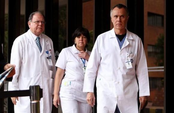 El Dr. Felipe Gómez, miembro del equipo de especialistas que operó al presidente.