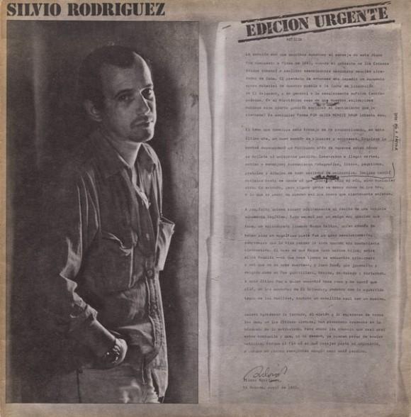 """Portada de la primera edición del disco """"Unicornio"""", que llevó por título """"Edición urgente""""."""