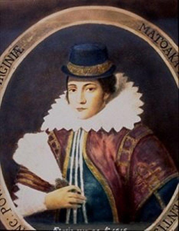 Retrato-realizado-en-1616-a-Pocahontas-por-aquel-entonces-Lady-Rebecca-Rolfe-por-Simon-van-der-Meer-Wikimedia-Commons