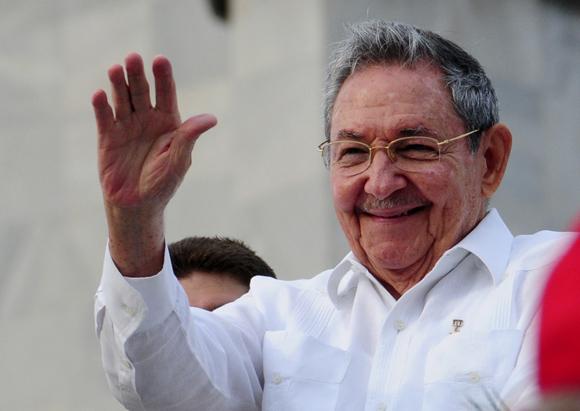 Raúl Castro durante el desfile por el 1ro de Mayo en La Habana. Foto: Ladyrene Pérez/Cubadebate.