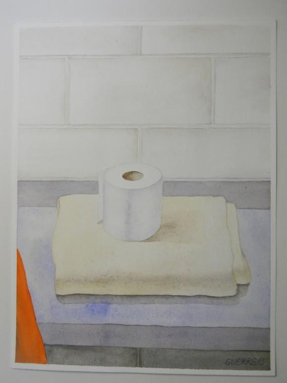 """EL RECIBIMIENTO. 12 de  septiembre de 1998. Sólo una colcha y un rollo de papel sanitario al llegar a la celda del llamado """"hueco"""" en el Centro de Detención Federal de Miami."""