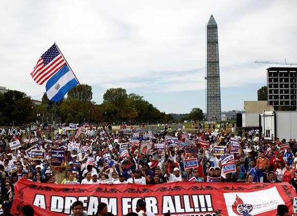 La marcha pro migración, denominada Camino Americano: Marcha por una Reforma Migratoria.
