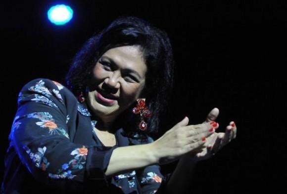 Actuación de la cantante dominicana Maridalia Hernández,  durante el concierto clausura del encuentro Voces Populares,  realizado en el  Teatro Nacional, en La Habana, Cuba, el 9 de noviembre de 2013 AIN FOTO/Oriol de la Cruz ATENCIO/