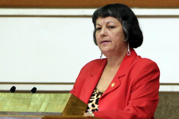 Margarita González Fernández, Ministra de Trabajo  y Seguridad Social. Foto: Ladyrene Perez/Cubadebate.