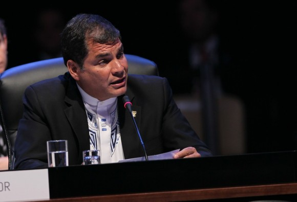 Rafael Correa, presidente de Ecuador, en la II Cumbre de CELAC. Foto: Ismael Francisco/ Cubadebate