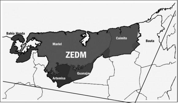 Mapa de la ZEDM. Foto: Juventud Rebelde