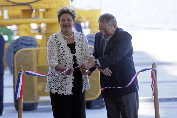 Dilma y Raúl inauguran Terminal de Contenedores. Foto: Ladyrene Pérez/ Cubadebate