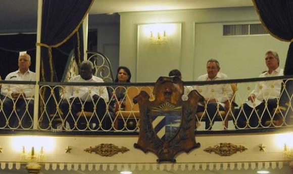 Los principales dirigentes cubanos asistieron a la inauguración