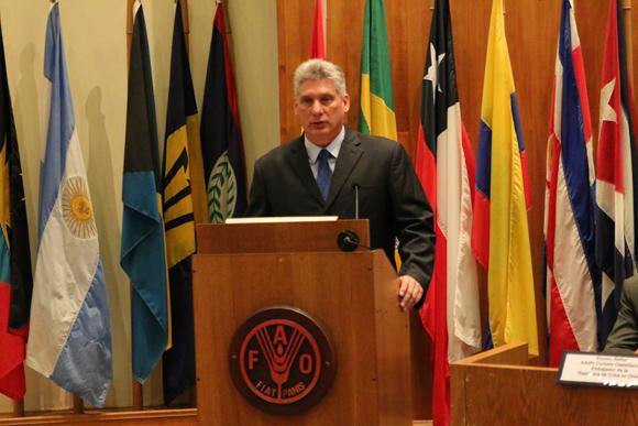 Cuba es reconocida por la FAO por su lucha contra el hambre.