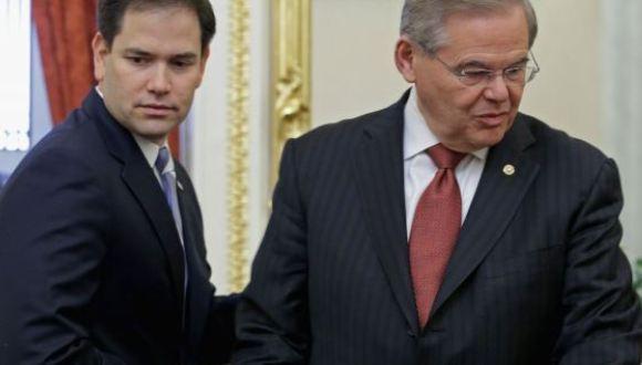Resultado de imagen para foto senador bob menendez y marco rubio en el congreso